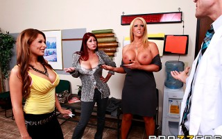 The line-up at Doctor Feelgood's office is always ridiculously long and full of super horny Milfs. His last patient of the day is Allison Star, a sexalicious Hungarian Milf who wants to get her pussy and ass checked out. Even though Allison doesn't speak