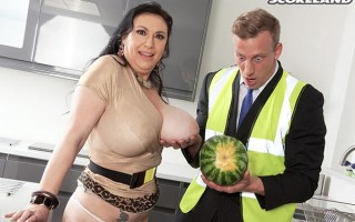 Sabrina-Jade and the big tits inspector