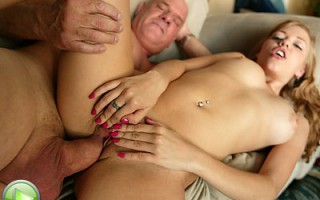 Nicole sucks off grandpa and nearly gives him heart attack