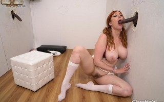 Busty redhead Lauren Phillips Gloryhole