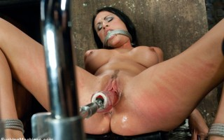 Making a hot girl cum, drool, beg, and strain against her bondage while machines pound multiple orgasms out of her sweet pussy.