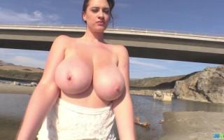 Outdoor Shoot With Lana Kendrick Revealing Her Natural Big Boobs