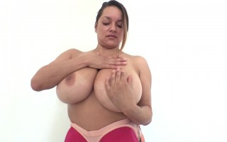 Monica Mendez Playing Around With Her Enormous Boobs in Focus