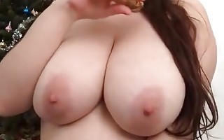 Gf oils her huge beautiful boobs on cam