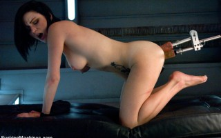 Double Penetration, huge machines, big cocks, lively sexy girl cumming - its the stuff wet dreams are made of -Veruca James rides the FuckingMachines