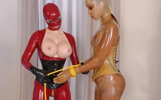 Katia D矌ys & Latex Lucy Get Fucked In Their Latex Suits