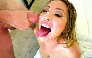 Busty Asian Kianna Dior gets loads from husband & son