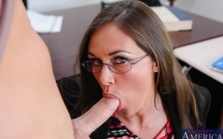 Kris can't take his mind off of pussy but Professor Simone Riley is going to help him find some balance and teach him which head of his he needs to be thinking with. After some serious fucking and a few orgasms Mrs. Riley moves Kris to the head of the cla