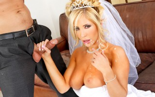 It's Tasha Reign's wedding day. She's got a little bit of cold feet though because she realizes that she will never be able to fuck anyone else for the rest of her life. Luckily, her fiances's best man, Ryan, is there to help her out. Ryan and Tasha actua