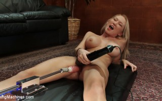 Madison Scott- big titted blond 22 year old machine fucked until she squirts. She takes a deep fucking in doggie but a belt driven chrome beast.