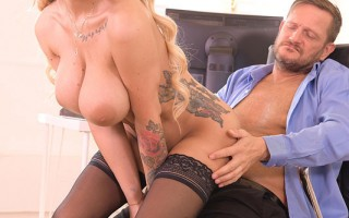 Big Tittied Babe Kyra Hot Bent Over And Fucked At Work