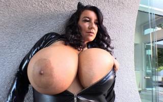 Curvy brunette Subrina Lucia is Cat Woman
