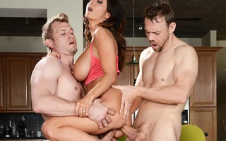 Ava Addams has been fucking her personal trainer Erik behind her husband Bill's back, and every day once they've worked up a nice sweat in the gym, they take it back to Ava's for round two! Erik is balls deep inside Ava's pretty mouth when her husband Bil
