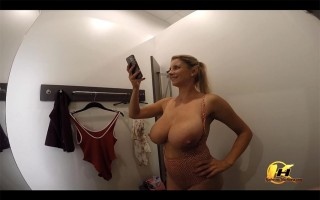 Hidden Camera Shopping And Dressing Room In Mall With Katerina Hartlova
