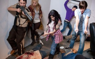 Zombie walkers get fucked to death with loads of man cum !
