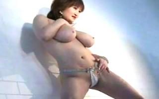 Busty pornstar Marina Matsushima posing