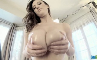 Isn't playing with big tits a lot of fun? I always love doing this and if I can give you a bit of a taste of what it's like to get your hands on my big boobs then I'm all for it so I hope you enjoy and have a fantastic weekend. :-)