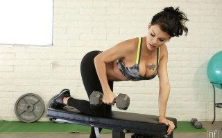 Peta Jensen needs to keep her tight body in perfect shape, and she accomplishes that by working out. From jumping rope to lifting weights to doing pull ups, she won't stop until she's covered in sweat and satisfied that she's pushed herself to the max. As