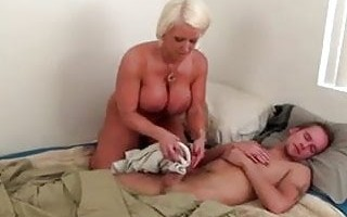 Not Mother Morning Handjob