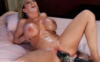 Rare & absolutely worthy MILF machine fucking -Sara Jay-Size ENORMOUS tits, HUGE jiggly ass - machine fucked DEEP by THICK cock that makes her squirt!