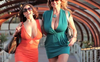 Angela and Kelly go out for dinner before heading home for a cock dessert.