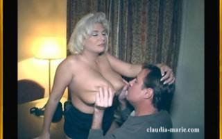 Big tit blonde getting her jugs devoured