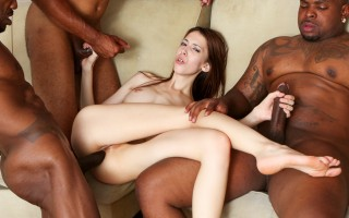 Skinny Jenna Justine gets bang banged by massive black cocsk