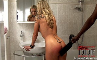 Blond beauty who disobeys her masters wishes is punished