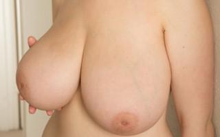 Siri's big tits get wet with cum