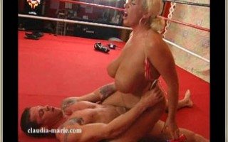 Claudia-Marie Steps In The Ring And Gets A Big Mouthful Of Cum