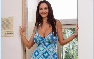 Ava Addams slipping off her dress