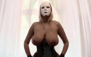 Dominas in corset and nylons - Big tits and pumped pussy