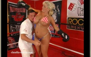 Claudia-Marie Gets Her Soft Saggers Used & Abused In The Ring