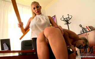 Schoolgirl Gina gets caught smoking by naughty Clara G