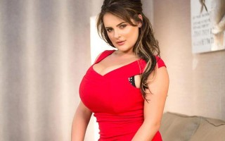 Voluptuous buxom fantasies come true with Katie Thornton