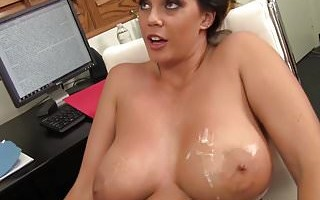 WANKZ- Alison Tyler Squeezes Cum On Her Giant Tits