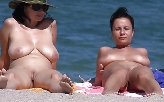 Big boobs and beach