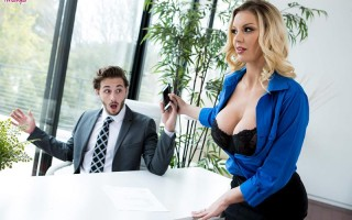 Busty blonde Kenzie Taylor in Gimme a Raise!