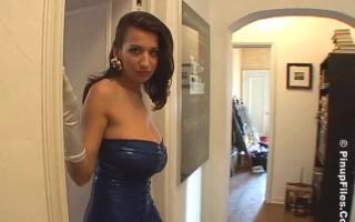 Jana Defi in Her Sexy Dress Goes Naughty