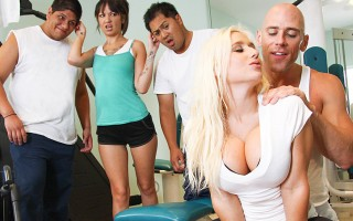 Sammie is all about getting into shape. On her first day at the gym, she enlists the help of head trainer, Johnny Sins. After a few workouts, they move to the stripper pole for a special dance. It's good to be a personal trainer.
