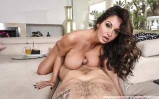 Housewife 1 on 1 featuring Wife Ava Addams fucking in the den with her natural tits