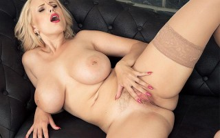 Solo action with European babe Angel Wicky
