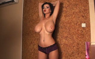 Busty model Sha Rizel traying out different bras