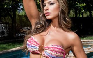 Esperanza Gomez fucks and sucks a huge hard cock.