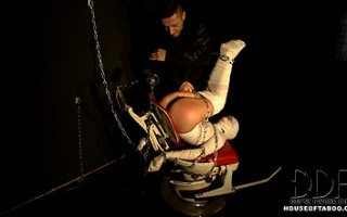 Leyla Black Gets Mummified, Fingered & Spanked By Master