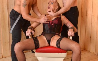 Kayla Green getting fucked by two cocks in ass and pussy