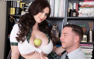 Voluptuous Milly Marks is the horny coed