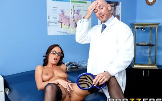 When Rahyndee walked into Dr. Johnny Sins' office, she wanted to get all kinds of work done, from facelifts to nips and tucks. But when she stripped down to some sexy black lace lingerie and thigh-high stockings for her consultation, Johnny knew she was w