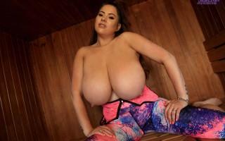 Rachel Aldana massive breasts Hot Sauna