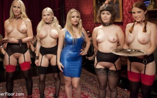 Super Fine Aiden Starr is a sexual slave driver. All anal Christie Stevens and Simone Sonay serve their ass up on the Upper Floor Halloween Orgy